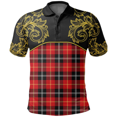 Marjoribanks Tartan Clan Crest Polo Shirt - Empire I - HJT4 - Scottish Clans Store - Tartan Clans Clothing - Scottish Tartan Shopping - Clans Crest - Shopping In scottishclans - Polo Shirt For You