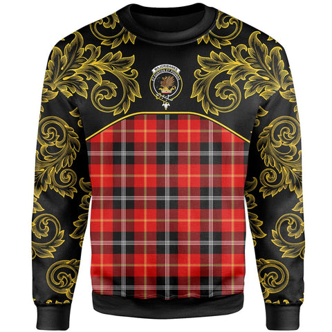 Marjoribanks Tartan Clan Crest Sweatshirt - Empire I - HJT4 - Scottish Clans Store - Tartan Clans Clothing - Scottish Tartan Shopping - Clans Crest - Shopping In scottishclans - Sweatshirt For You