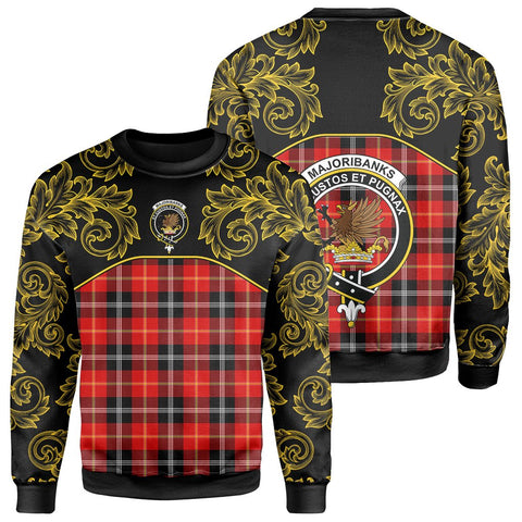 Marjoribanks Tartan Clan Crest Sweatshirt - Empire I - HJT4