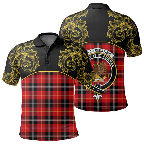 Marjoribanks Tartan Clan Crest Polo Shirt - Empire I - HJT4