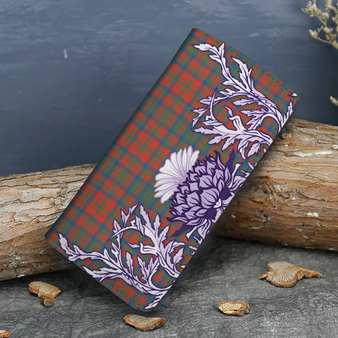 Matheson Ancient Tartan Wallet Women's Leather Thistle A91