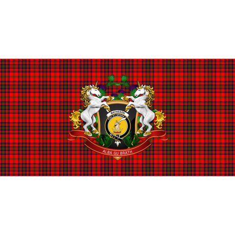 Matheson Modern Crest Tartan Tablecloth Unicorn Thistle A30