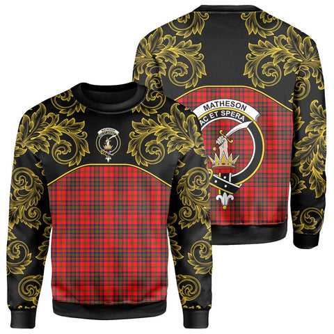Image of Matheson Modern Tartan Clan Crest Sweatshirt - Empire I - HJT4