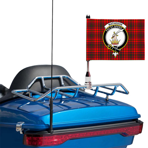 Image of Matheson Modern Clan Crest Tartan Motorcycle Flag