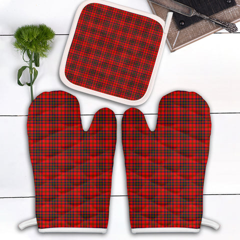 Matheson Modern Clan Tartan Scotland Oven Mitt And Pot-Holder (Set Of Two)