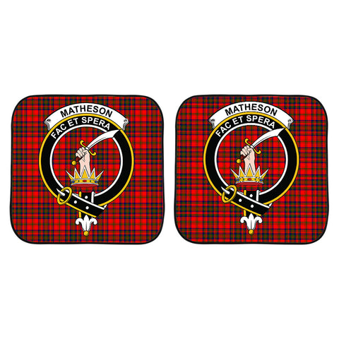 Matheson Modern Clan Crest Tartan Scotland Car Sun Shade 2pcs K7