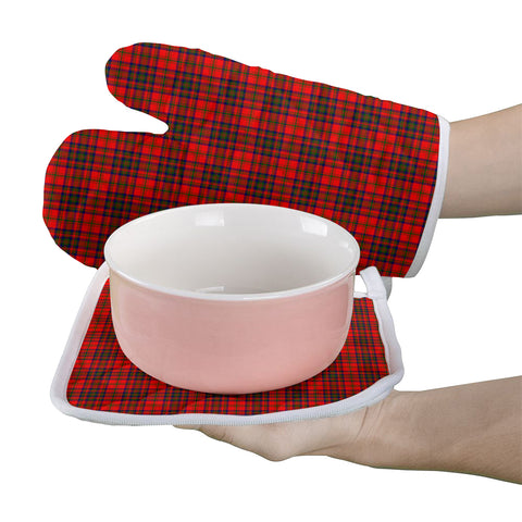 Image of Matheson Modern Clan Tartan Scotland Oven Mitt And Pot-Holder (Set Of Two)