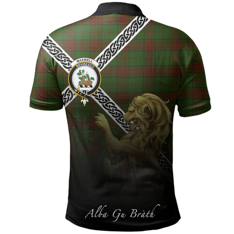 Image of Maxwell Hunting Polo Shirts Tartan Crest Celtic Scotland Lion A30