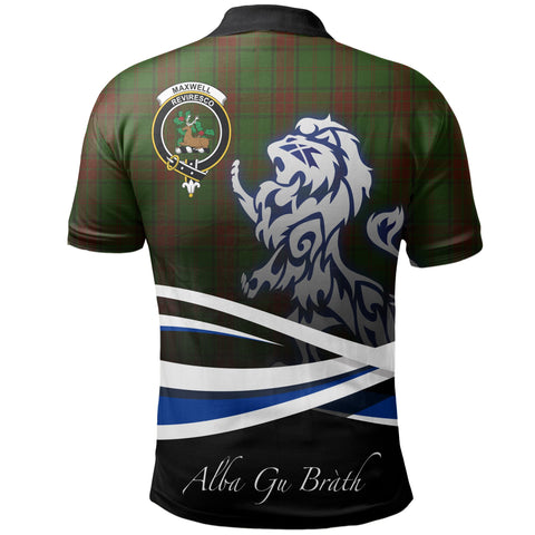 Image of Maxwell Hunting Polo Shirts Tartan Crest Scotland Lion A30