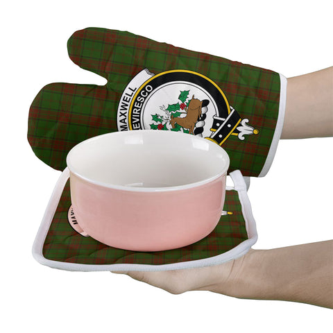 Maxwell Hunting Clan Crest Tartan Scotland Oven Mitt And Pot-Holder (Set Of Two)