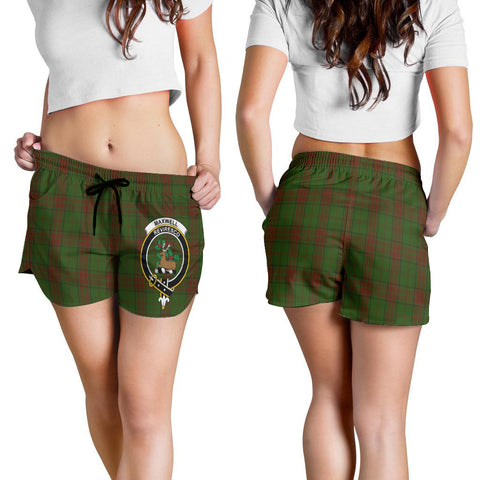 Maxwell Hunting Crest Tartan Shorts For Women K7