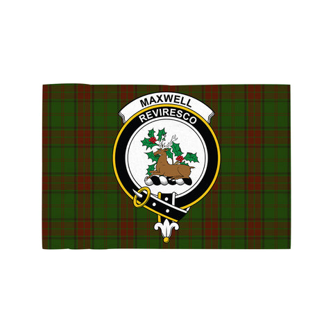 Image of Maxwell Hunting Clan Crest Tartan Motorcycle Flag