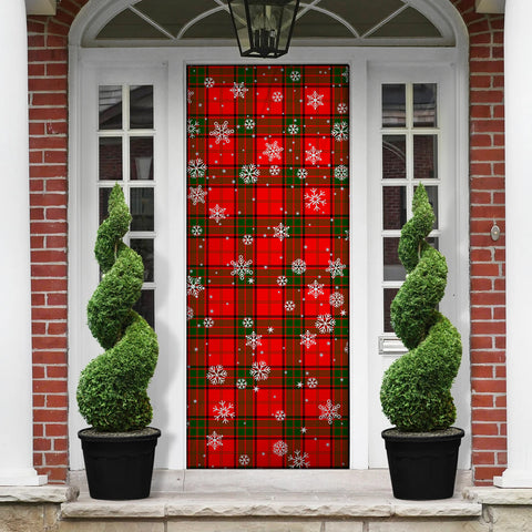 Maxwell Modern Christmas Tartan Door Sock Cover
