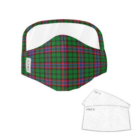 McGeachie Tartan Face Mask With Eyes Shield - Green  Plaid Mask TH8 TH8