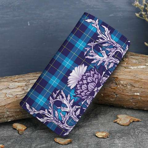 Image of McKerrell Tartan Wallet Women's Leather Thistle A91