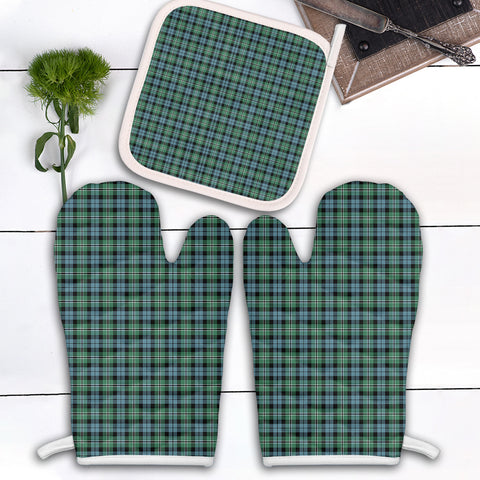 Melville Clan Tartan Scotland Oven Mitt And Pot-Holder (Set Of Two)