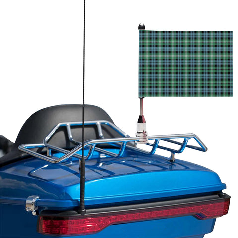 Melville Clan Tartan Motorcycle Flag