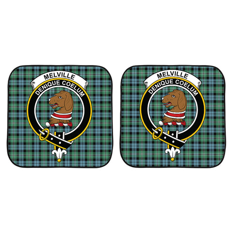 Melville Clan Crest Tartan Scotland Car Sun Shade 2pcs K7