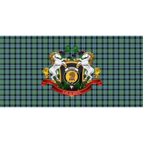 Melville Crest Tartan Tablecloth Unicorn Thistle A30