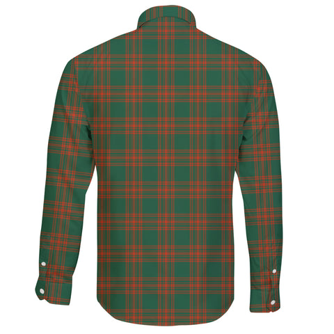 Menzies Green Ancient Tartan Clan Long Sleeve Button Shirt A91