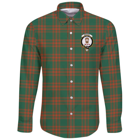 Menzies Green Ancient Tartan Clan Long Sleeve Button Shirt | Scottish Clan