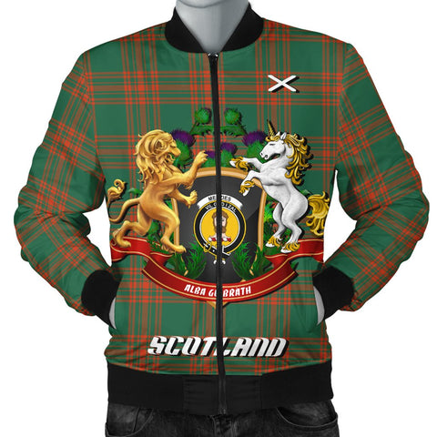 Menzies Green Ancient | Tartan Bomber Jacket | Scottish Jacket | Scotland Clothing