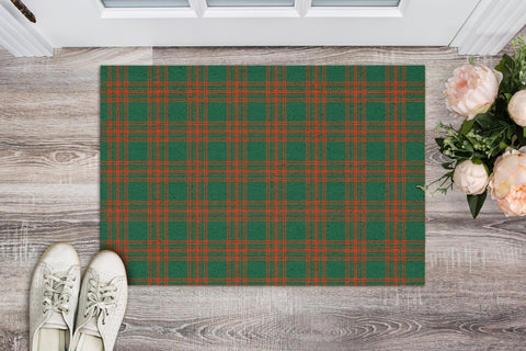 Menzies Green Ancient Tartan Carpets Front Door A91