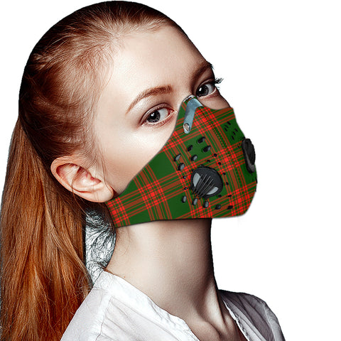 Menzies Green Modern Tartan Dust-proof Sports Masks ( Model 1) - TH88 (USA Shipping Line)