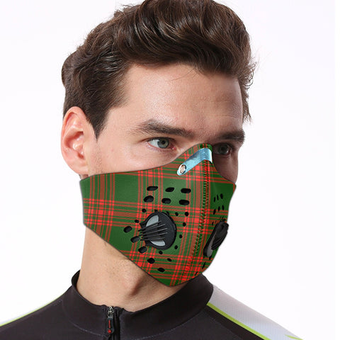 Image of Menzies Green Modern Tartan Dust-proof Sports Masks ( Model 1) - TH88 (USA Shipping Line)