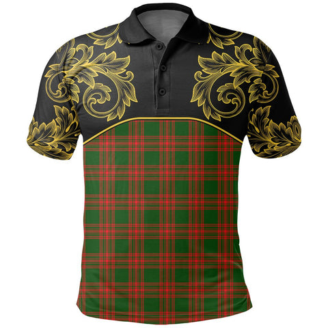 Menzies Green Modern Tartan Clan Crest Polo Shirt - Empire I - HJT4 - Scottish Clans Store - Tartan Clans Clothing - Scottish Tartan Shopping - Clans Crest - Shopping In scottishclans - Polo Shirt For You