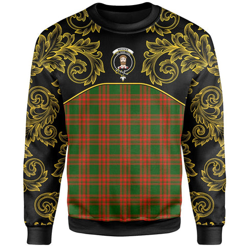Menzies Green Modern Tartan Clan Crest Sweatshirt - Empire I - HJT4 - Scottish Clans Store - Tartan Clans Clothing - Scottish Tartan Shopping - Clans Crest - Shopping In scottishclans - Sweatshirt For You