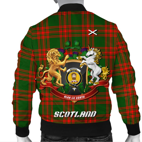 Menzies Green Modern | Tartan Bomber Jacket | Scottish Jacket | Scotland Clothing