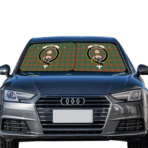 Menzies Green Ancient Clan Crest Tartan Scotland Car Sun Shade 2pcs