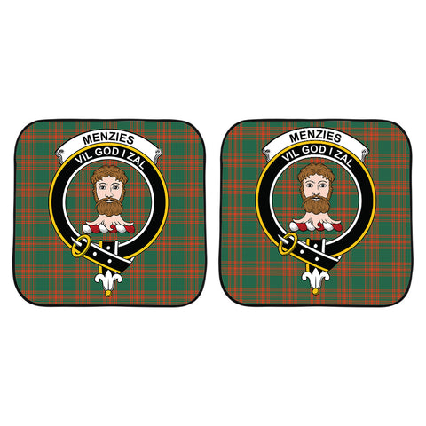 Menzies Green Ancient Clan Crest Tartan Scotland Car Sun Shade 2pcs K7