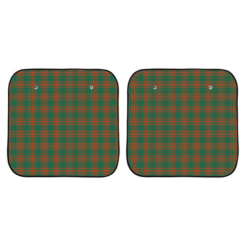 Menzies Green Ancient Clan Tartan Scotland Car Sun Shade 2pcs K7