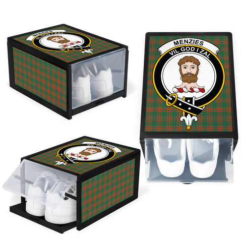 Menzies Green Ancient Clan Crest Tartan Scottish Shoe Organizers K9