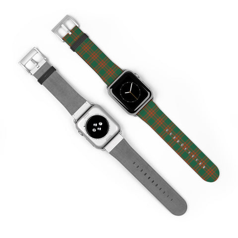 Menzies Green Ancient Scottish Clan Tartan Watch Band Apple Watch