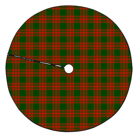Menzies Green Modern Tartan Tree Skirt Christmas