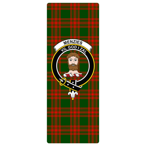 Image of Menzies Green Modern Clan Crest Tartan Yoga mats