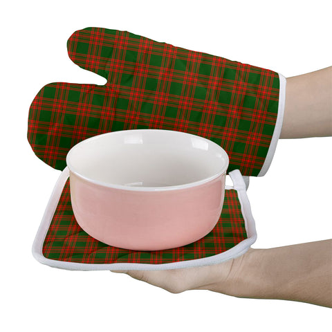 Menzies Green Modern Clan Tartan Scotland Oven Mitt And Pot-Holder (Set Of Two)