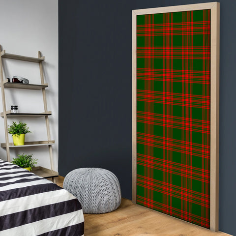 Menzies Green Modern Tartan Door Sock Cover