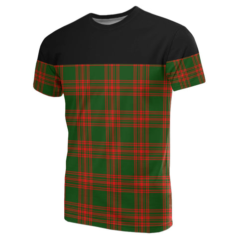 Tartan Horizontal T-Shirt - Menzies Green Modern