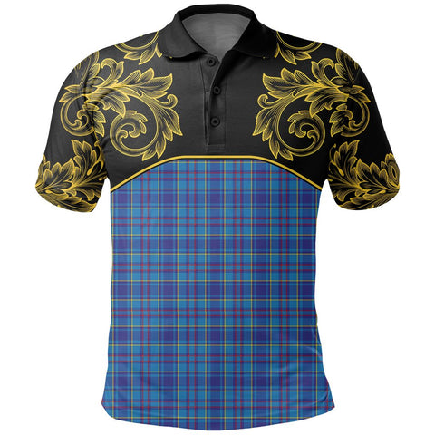 Mercer Modern Tartan Clan Crest Polo Shirt - Empire I - HJT4 - Scottish Clans Store - Tartan Clans Clothing - Scottish Tartan Shopping - Clans Crest - Shopping In scottishclans - Polo Shirt For You