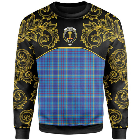 Mercer Modern Tartan Clan Crest Sweatshirt - Empire I - HJT4 - Scottish Clans Store - Tartan Clans Clothing - Scottish Tartan Shopping - Clans Crest - Shopping In scottishclans - Sweatshirt For You