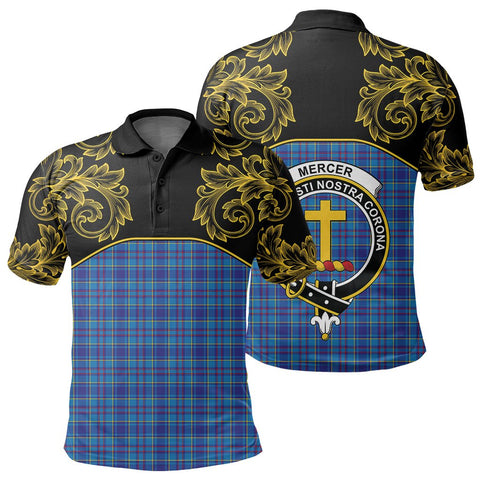 Mercer Modern Tartan Clan Crest Polo Shirt - Empire I - HJT4