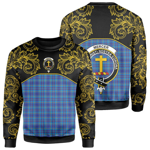 Image of Mercer Modern Tartan Clan Crest Sweatshirt - Empire I - HJT4
