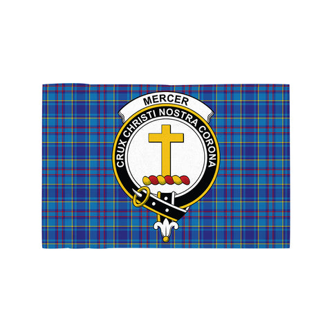 Mercer Modern Clan Crest Tartan Motorcycle Flag