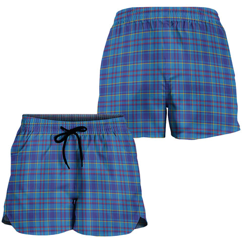 Mercer Modern Crest Tartan Shorts For Women K7
