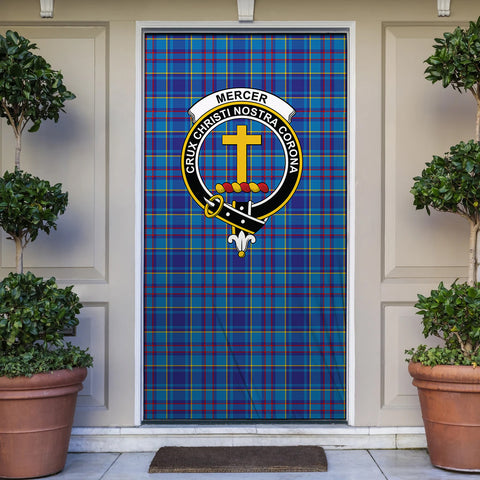 Mercer Modern Tartan Door Sock Cover