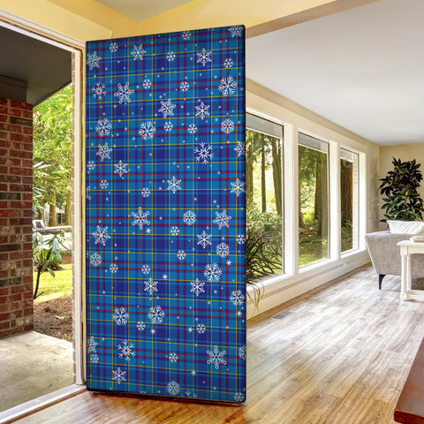 Mercer Modern Christmas Tartan Door Sock Cover